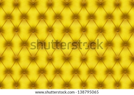 Fabric sofa yellow color texture