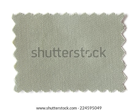 fabric swatch samples isolated on white background - stock photo