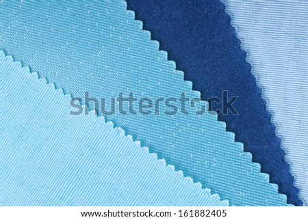 fabric swatches  choice for home interior - stock photo
