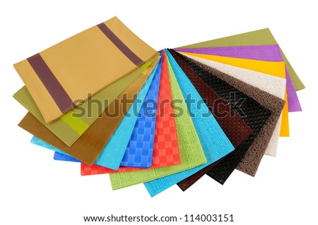 Fabric swatches. Isolated - stock photo