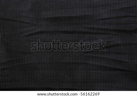 Fabric texture background black (close up) - stock photo
