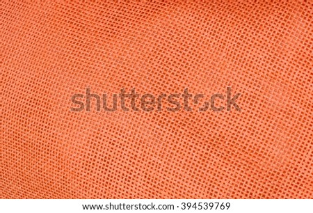 Fabric Texture, Close Up of Orange Fabric Texture Pattern Background.