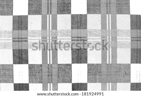 Fabric texture in black and white stripes