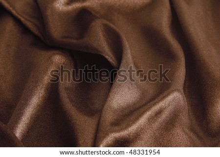 fabric texture in chocolate color - stock photo