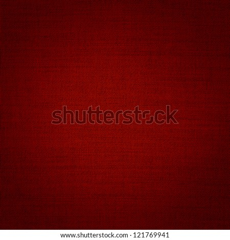 fabric texture in red - stock photo