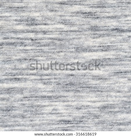 Fabric texture. Melange light gray color background - stock photo