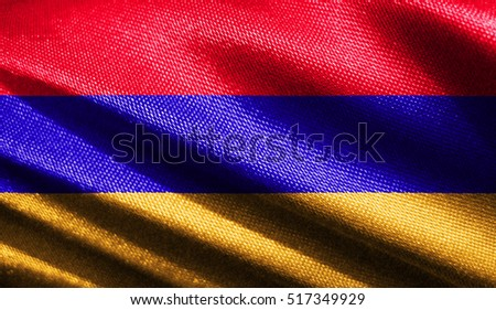 Fabric texture of the flag of Armenia