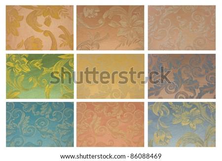 Fabric texture set vintage. - stock photo