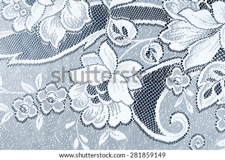Fabric texture tulle. Tulle Lace   border pattern. Tulle is a type of netting derived from nylon, rayon or silk. - stock photo