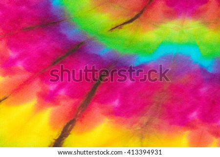 Fabric Tie Dye Color Texture Background