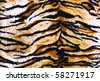 fabric tiger - stock photo