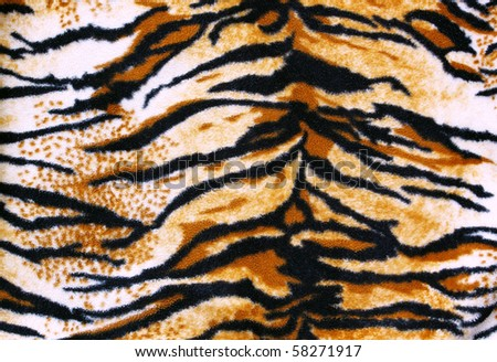 fabric tiger - stock photo