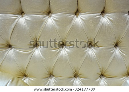 fabric upholstery sofa, background - stock photo