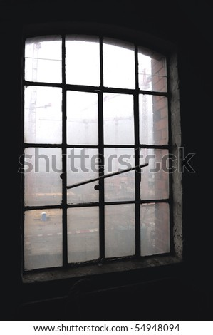 Fabric window - stock photo
