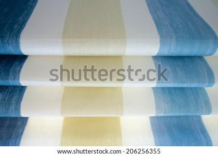 Fabric Window Blinds - stock photo