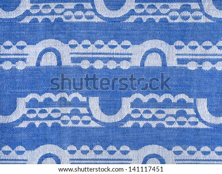 fabric with an abstract geometric pattern