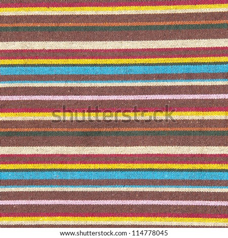 fabric with multicolor pattern - stock photo