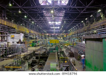 fabrication mill, rolling mill in perspective - stock photo