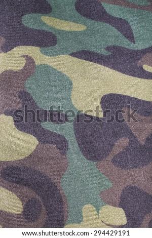 Fabrics with camouflage pattern. Background. - stock photo
