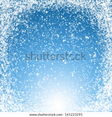 Fabulous Christmas and New Year snow background - stock photo