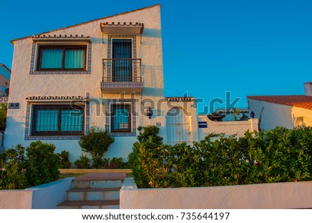 Traditional Spanish Architecture Costa Del Sol Andalusia Spain