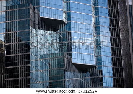 facade building glass background - stock photo
