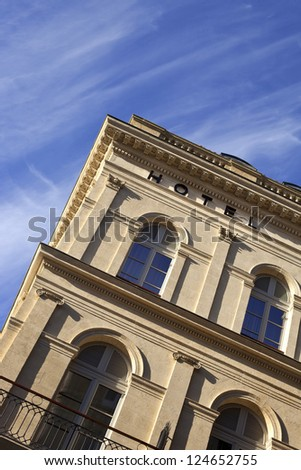 Facade of a luxury hotel in Bordeaux, France - stock photo