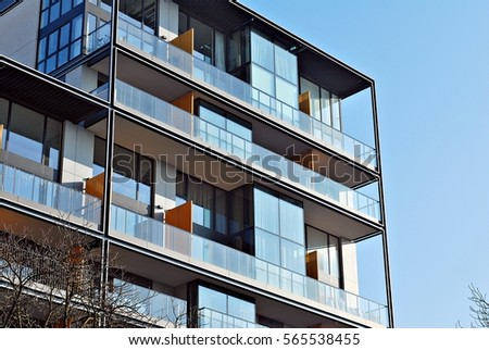 Facade Of A Modern Apartment Building Part 84