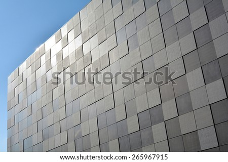 Facade of a modern Building - stock photo
