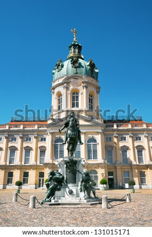 Facade of a palace of Charlottenburg, Berlin, Germany - stock photo