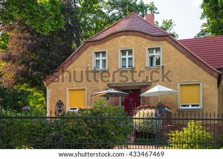 Facade of an old house in Berlin, Germany