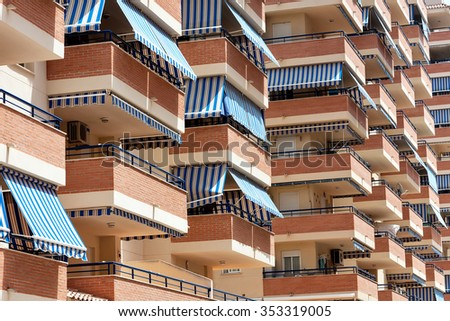Awning stock images royalty free images vectors for Rv with balcony