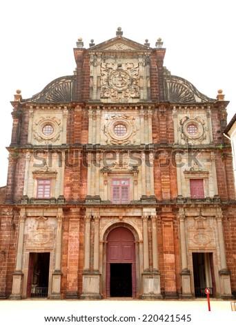 Facade of Basilica of Bom Jesus church - stock photo