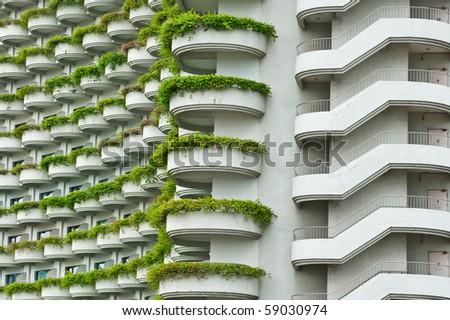 Facade of building - stock photo