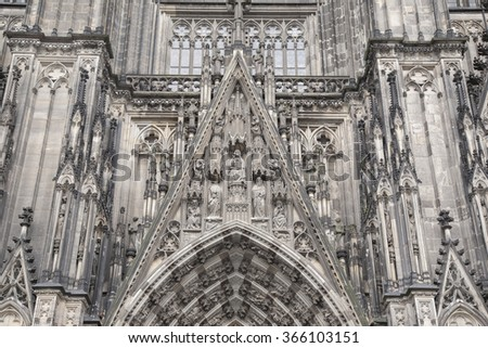 Facade of Cathedral, Cologne; Germany
