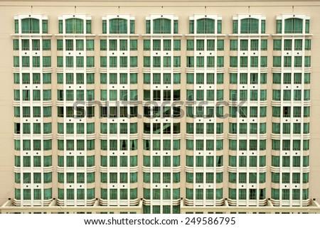 Facade of fancy hotel, Singapore - stock photo