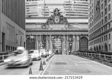 Facade of Grand Central Terminal  in New York, USA - stock photo