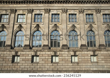 facade of historical building on Museum Island (Museumsinsel) in Berlin, Germany, Europe - stock photo