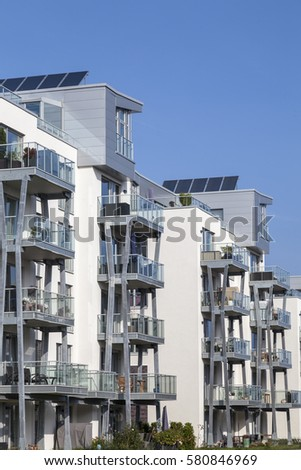 Facade Of Modern Apartment Buildings