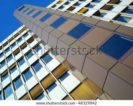 Facade of multistory house - stock photo