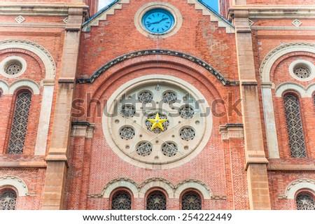 Facade of Notre Dame Ho Chi Minh City, Vietnam - stock photo
