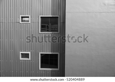 Facade of office building for background - Black and white