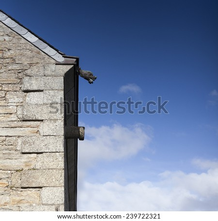 Facade of on old house, france, atlaltic ocean - stock photo