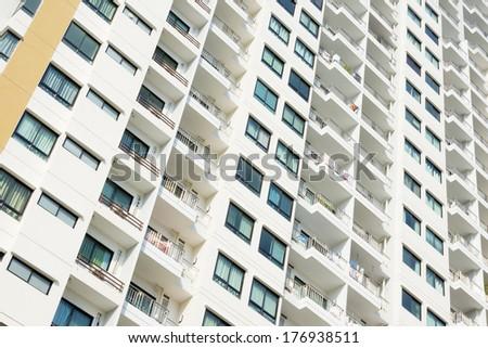 Facade of residential building - stock photo