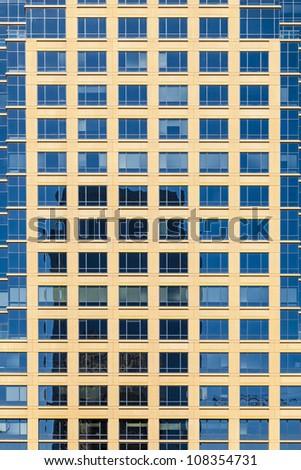 facade of skyscraper - stock photo