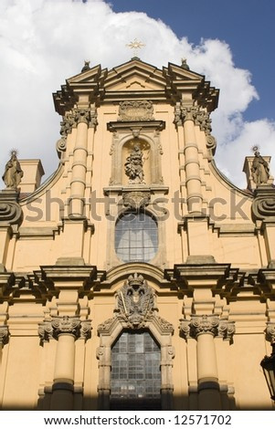 facade of st. joseph church in prague - stock photo