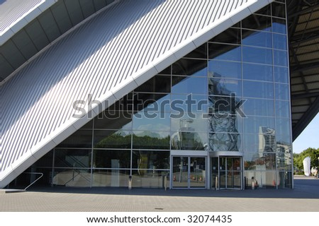 "Facade of ""The Armadillo"" concert hall in Glasgow, Scotland"
