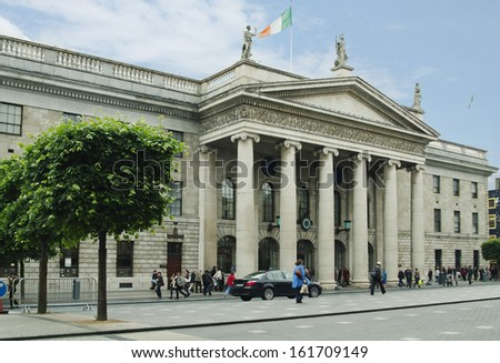 Facade of the General Post Office, O'Connell Street, Dublin, Republic of Ireland
