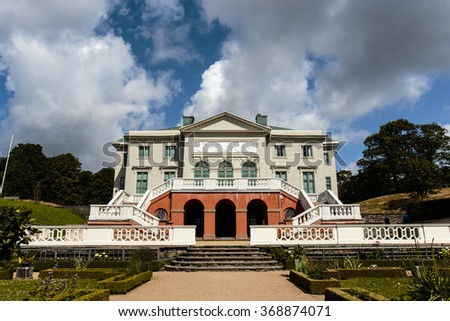 Facade of the Gunnebo Slott palace outside Gothenburg, Sweden, Scandinavia