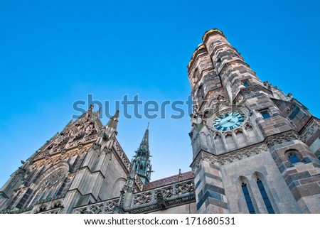 Facade of the Saint Elisabeth Cathedral in Kosice, Slovakia - stock photo